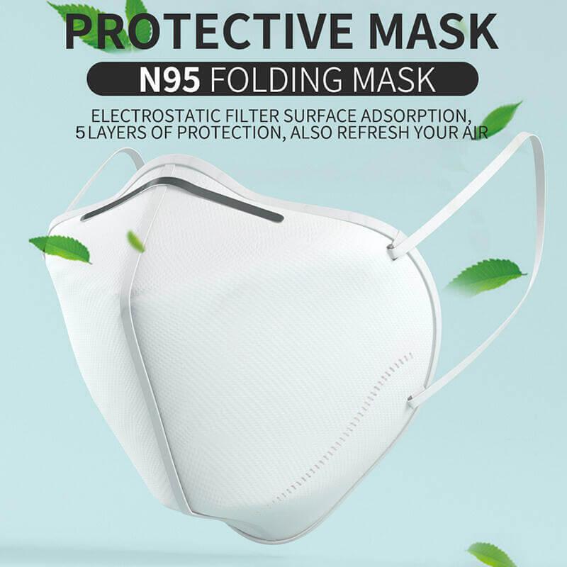 KN95N95FFP2 Disposable Face Masks Non Valve Respirator With (7)