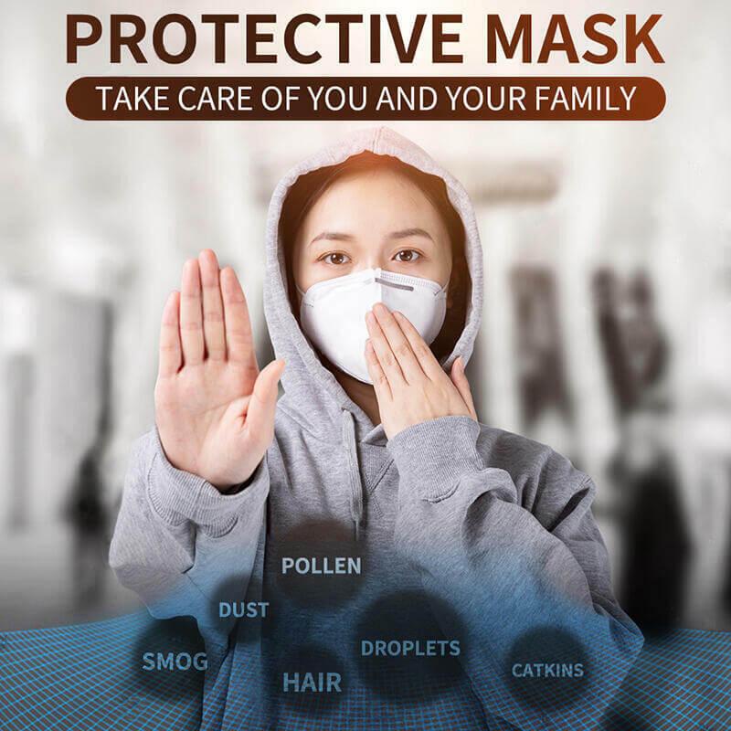 KN95N95FFP2 Disposable Face Masks Non Valve Respirator With (8)
