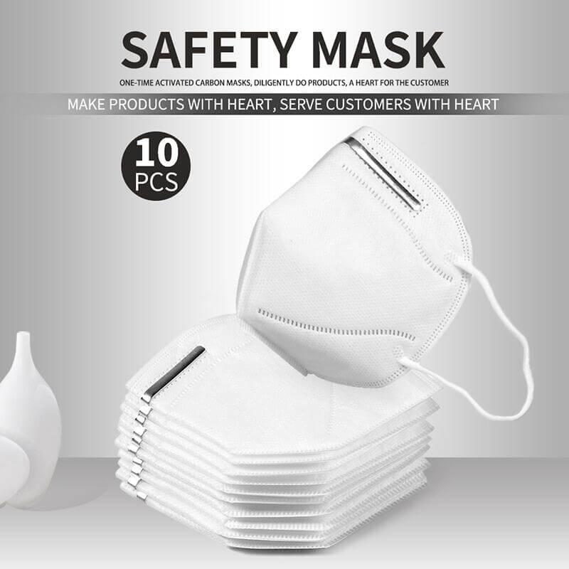 KN95N95FFP2 Disposable Face Masks Non Valve Respirator With (9)