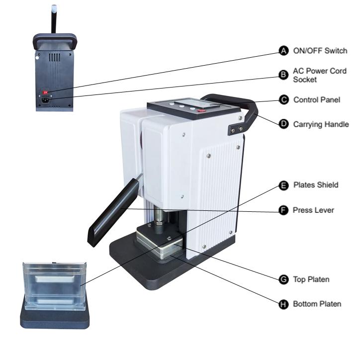 mini rosin press RP100 5